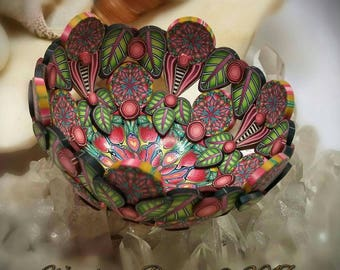 Pink Cotton Candy Fairy Jewelry Ring Necklace Mini Altar Bowl Dresser Nightstand Polymer Clay