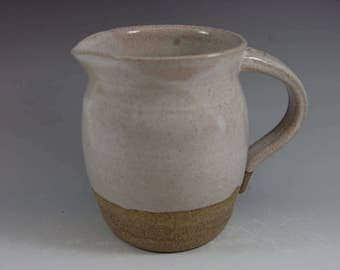 Cottage Style Pottery Pitcher Cream Pitcher Syrup Pitcher Serving