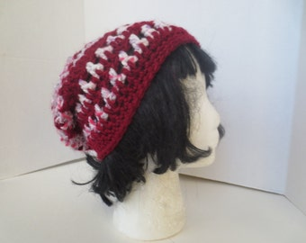 Slouchy hat - Slouch hat - Burgundy slouch hat - Grunge - Slouch beanie