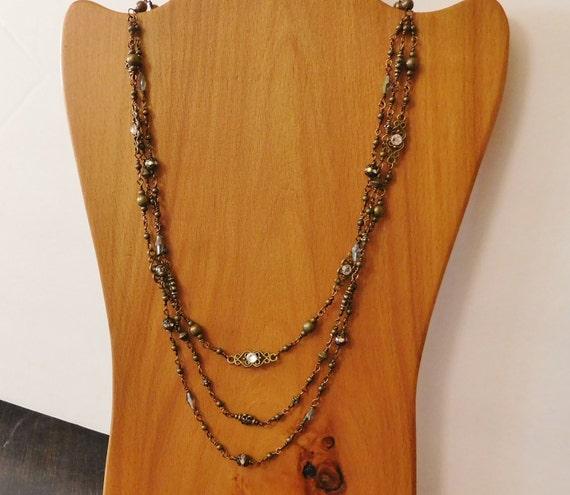 Statement Necklace Jewelry Girlfriend Gift, Statement Necklace Jewelry Gift for Wife, Stacking Statement Necklace Gift for Her