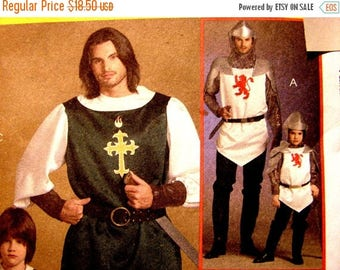on SALE 25% OFF Mens Renaissance Costume Pattern Medieval Costume Tunic, Musketeer Costume, Knight Costume, Prince Costumes UNCUT size Chest