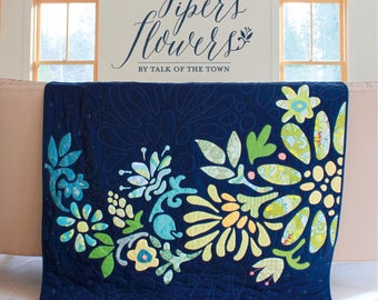 Piper's Flowers Baby Quilt