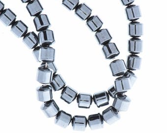 Hematite 4mm Drum Beads 16in strand 08954/4