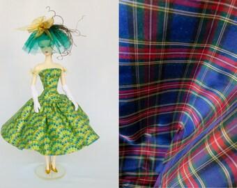 Silkstone Barbie Outfit Fashion Dress & Hat Silk Tartan