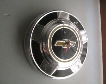Vintage 1970's Chevy Truck Hubcap Clock no.2482