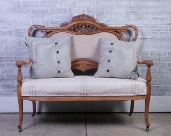 Antique Ornate Wood Settee
