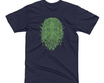 Green Man Men's Short Sleeve T-Shirt - size Small to 2XL