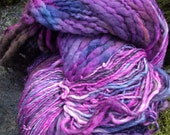 Handpainted handspun Yarn kit bundle, three skeins OOAK, bulky Merino, Mohair Silk Bamboo-Lisa Frank