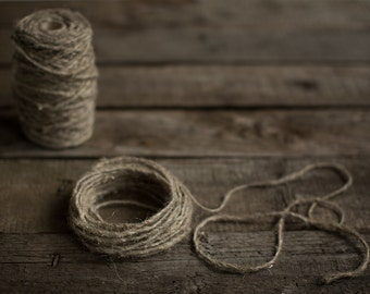 Flax twine - Natural linen cord - DIY wedding decorations - Rustic wedding decor - 10 m (32 feet) rope - Gift wrap string