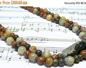 On Sale Italian Onyx Statement Necklace Free Matching Earrings Beaded Jewelry Top Selling Jewelry Gemstone Jewelry Gift Ideas