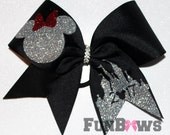 SUPER SALE ! Disney Inspired Castle Minnie Allstar cheer bow by FunBows !