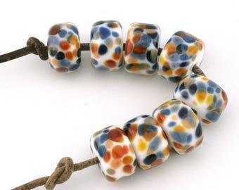 Royal Flush Drops Handmade Glass Lampwork Beads (8 Count) by Pink Beach Studios (2191)