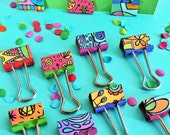 Groovy Doodle Clips (set of 5)