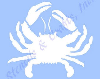 "4 1/4"" CRAB STENCIL TEMPLATE ocean mollusk stencils pattern coastal background beach sea marine nautical templates pattern craft paint art"