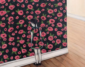 Rosie Against The Wall - Fine Art Print of Original Painting