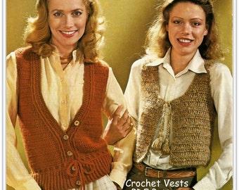 Crochet Bolero and Button Vest PATTERNS, Size 10 thru 18, PDF 12247973