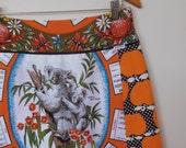 1977...vintage souvenir calendar tea towel A line skirt