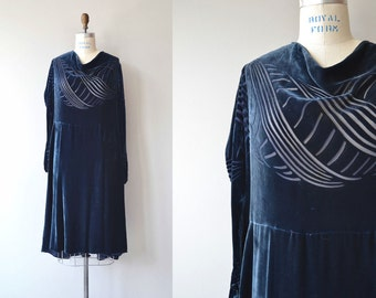 Devoré Wave dress | 1920s silk velvet dress | vintage 20s dress