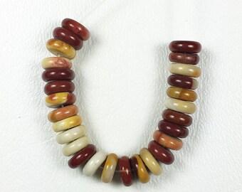 9mm Mookaite Rondelle Beads
