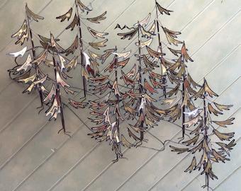 curtis jere alpine metal wall sculpture rare hard to fine c jere evergreen trees