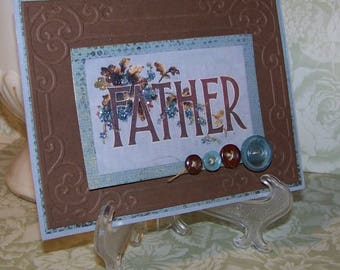 Cards for Father Handmade Vintage Style Fathers Day Card
