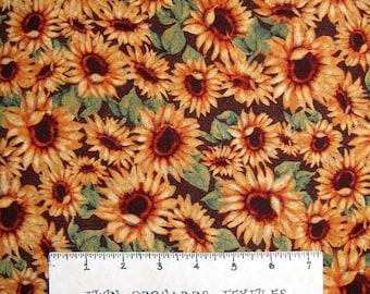 Harvest Blessings Fabric - Fall Sunflowers Allover - Springs YARD