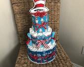 Custom dr Seuss diaper cake