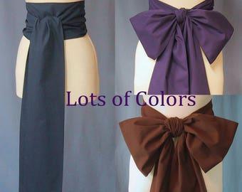 Flat Sash for Costumes - Large Color Choice - Unisex - Pirate Sash - Men or Women - Ren-Faire, Pioneer, Civil War, Historical Costume Events