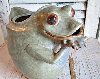 FaBuLouS FRoG ArT PoTTeRY PiTCHeR!
