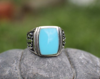 Sterling Silver Thunderbird Turquoise Ring Size 11