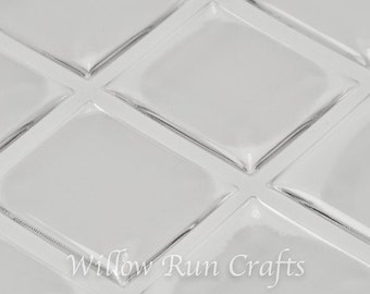 50 Pack 20 x 18mm Scrabble Size Clear Epoxy Domes Stickers,  (01-05-210)