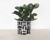 Round Brick Pinched Planter in White - Made to Order