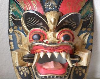 RANGDA MASK demon queen Balinese Carved Wood