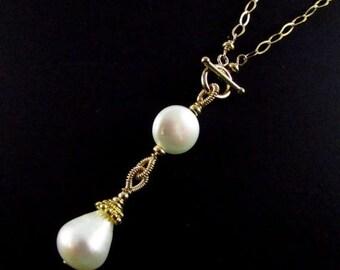 25% Off Pearl Drop Y Necklace