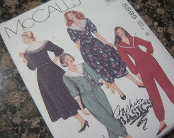 1991 Dress and Jumpsuit - McCall's Pattern 5595 - Uncut