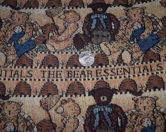1 and 3/8 Yards The Bear Essentials Tapestry Fabriic