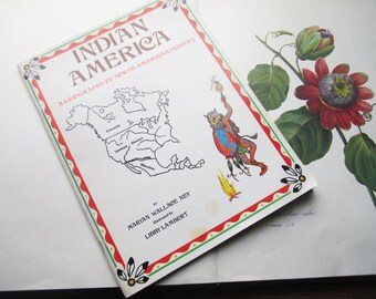 Vintage Books * Indian American * Geography * Tribal Maps * North American Native Indian * Educational Books * Kids Teens Adults * 1980's