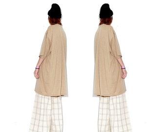 OMG HALF OFF Nude Camel tshirt dress / giant oversized shirt dress t shirt dress 5 Xl