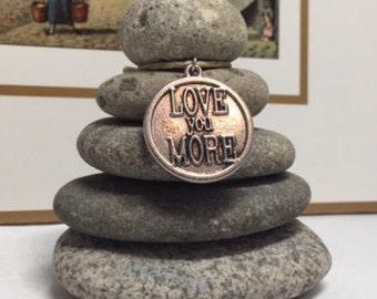 I Love you More Rock Cairn, Zen Garden, Wishing Stones, Inspirational Small Gift, Desk Gift, Parent Loved One, Spouse, Boyfriend, Girlfriend