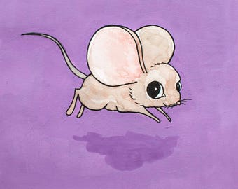 All I See Is Purple (mouse illustration)