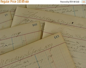 ON SALE Antique 1800s  Ledgers 125 years old
