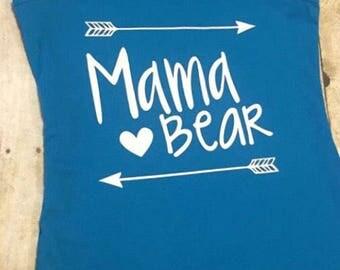 Mama bear tank, mama bear tee, baby bear, arrow tee, arrow tank