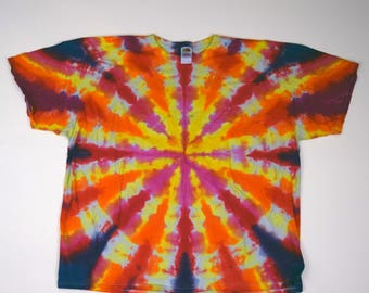 Supernova Tie Dye T-Shirt (Fruit of the Loom Heavy Cotton Size 4XL) (One of a Kind)