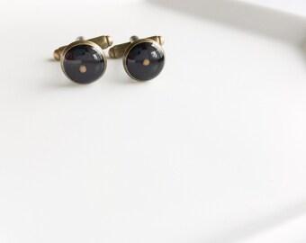 mustard seed cufflinks - antique bronze resin mustard seed mens cuff links cufflinks