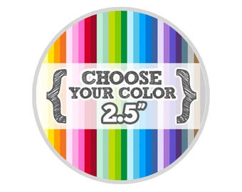 2 1/2 inches - Choose Your Color - Large Circles - Die Cut Tags - Party Favors, Escort Cards, Bracket Labels, Gift, Price Tags, Hang Tags