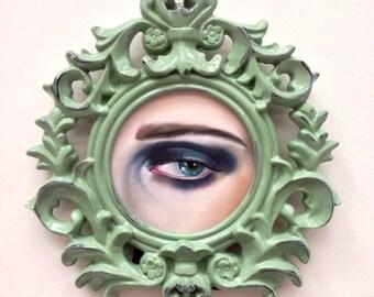 Lovers Eye Painting memento mori Lowbrow original in frame