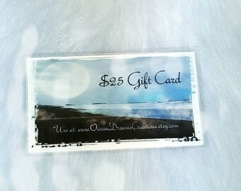 Gift Certificate - Birthday Gift - Voucher - Last minute Shopping - Mothers Day - Hanukkah Gift- Holiday Gift - Certificate