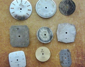 Vintage Antique Watch  Assortment Faces - Steampunk - Scrapbooking P46