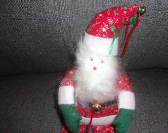 Sitting Santa with Wreath