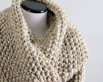Ready To Ship | Chunky Infinity Scarf | Chunky Knit | Crochet Cowl | Extra Large | Oversized Knit Cowl | Loop Scarf | Gift For Her